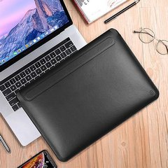Чехол папка WIWU Skin Pro Slim Stand для MacBook Air 13 (2018-20)/Pro 13 (2016-20) Black