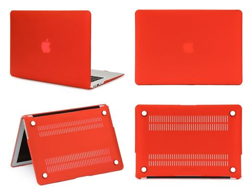 "Чехол накладка Matte Hard Shell Case для Macbook Pro Retina 15.4"" Red"