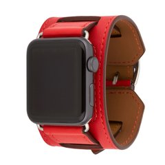 Ремінець для Apple Watch 44/42 мм Hermes Manchette Red