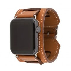 Ремінець для Apple Watch 44/42 мм Hermes Manchette Brown