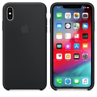 Silicone Case iPhone XS Max - Black