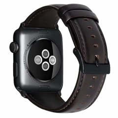 Ремешок для Apple Watch 44/42 mm Luxury leather Dark Brown