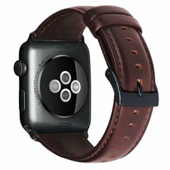 Ремешок для Apple Watch 44/42 mm Luxury leather Red Brown