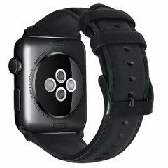 Ремешок для Apple Watch 44/42 mm Luxury leather Black