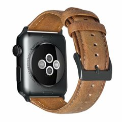 Ремешок для Apple Watch 44/42 mm Luxury leather Light Brown